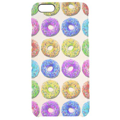 Yummy donuts pattern clear iPhone 6 plus case