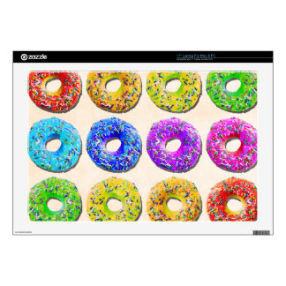 Yummy donuts pattern laptop decals
