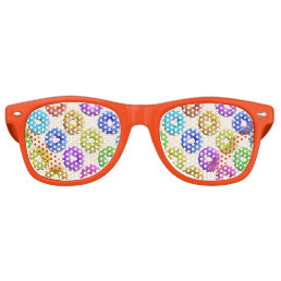 Yummy donuts pattern retro sunglasses