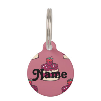 Yummy doodle cupcake pattern. pet ID tag
