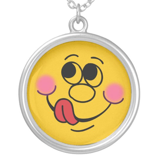 Yummy Face Kids Art Silver Plated Necklace