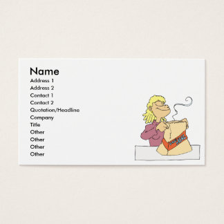 yummy fast food value meal business card