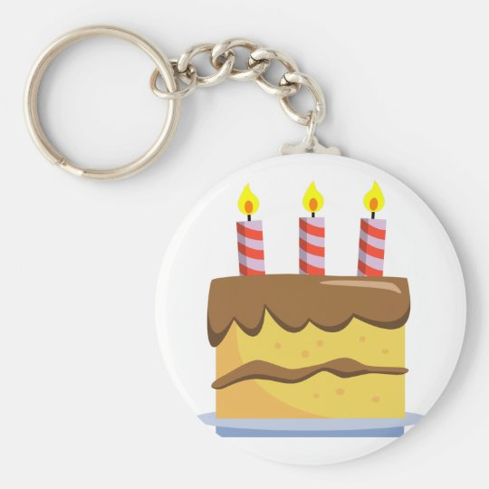 Yummy Food - Birthday Cake Keychain