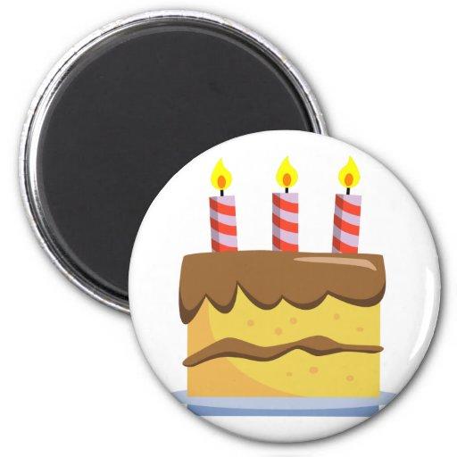 Yummy Food - Birthday Cake Refrigerator Magnets