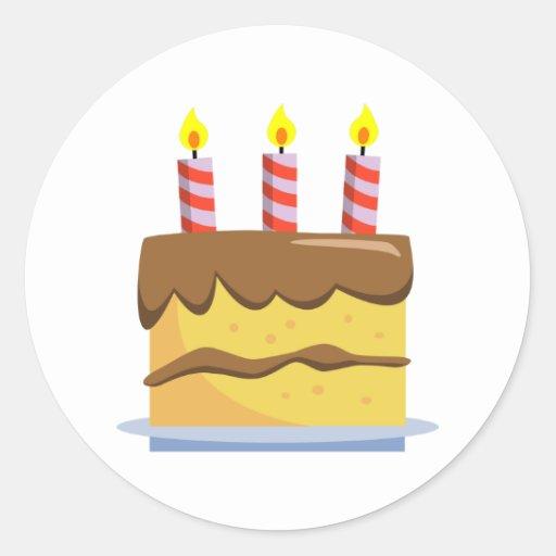 Yummy Food - Birthday Cake Sticker