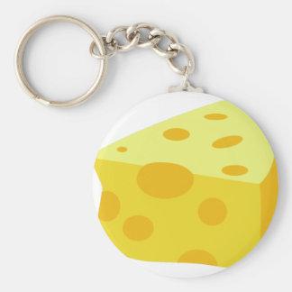 Yummy Food - Cheese Basic Round Button Keychain
