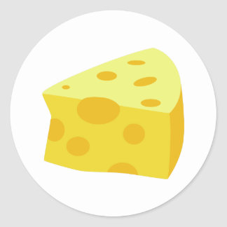 Yummy Food - Cheese Classic Round Sticker