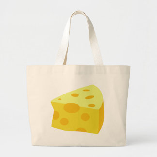 Yummy Food - Cheese Large Tote Bag
