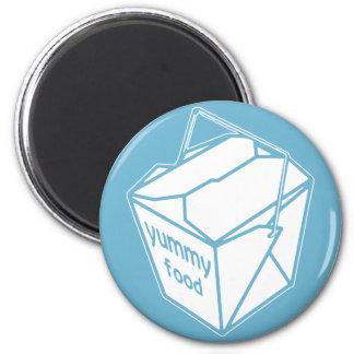 Yummy Food Take-out Box Fridge Magnet