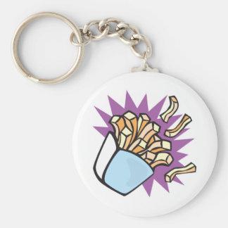 yummy french fries basic round button keychain