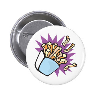 yummy french fries pinback button