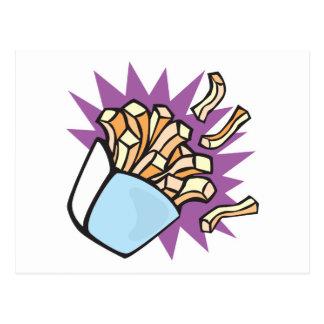 yummy french fries postcard
