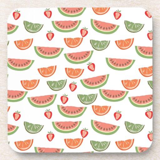 Yummy Fruit Beverage Coasters