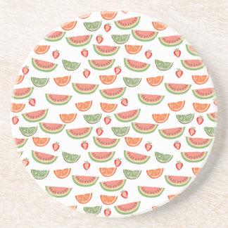 Yummy Fruit Drink Coaster