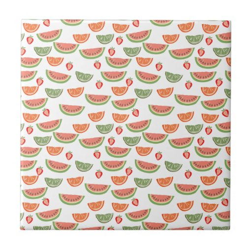 Yummy Fruit Small Square Tile