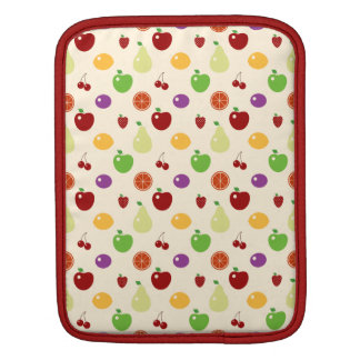 Yummy fruity fruits top chef foodie cherries apple sleeve for iPads