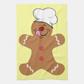 Yummy Gingerbread Man Cookie Kitchen Towel