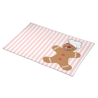 Yummy Gingerbread Man Cookie Place Mats