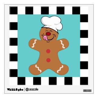 Yummy Gingerbread Man Cookie Set Room Sticker