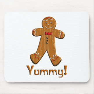 Yummy Gingerbread Man Mouse Pad