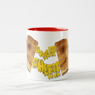 Yummy Grilled Cheese Sandwich Soup Cup Two-Tone Coffee Mug