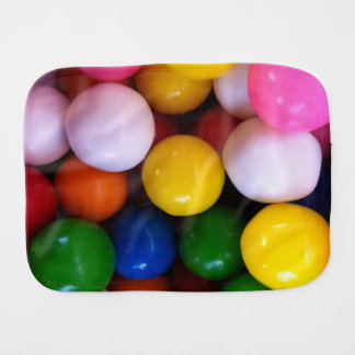 Yummy Gumballs Baby Burp Cloth