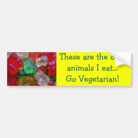 Yummy & Gummy Bears (Some Worms On Some) Bumper Sticker