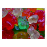 Yummy & Gummy Bears (Some Worms On Some) Greeting Cards