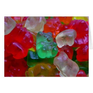 Yummy & Gummy Bears (Some Worms On Some) Greeting Card