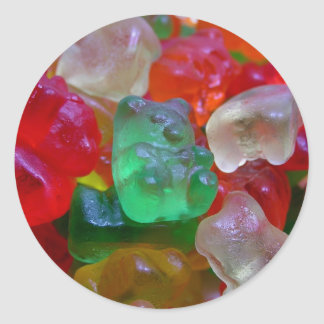 Yummy & Gummy Bears (Some Worms On Some) Classic Round Sticker