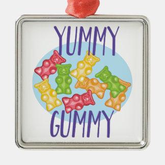 Yummy Gummy Metal Ornament