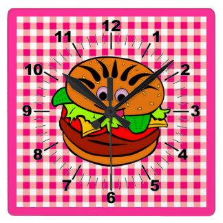 Yummy Hamburger Wall Clock