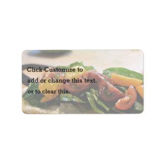 yummy healthy vegan sandwich label