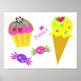 Yummy Ice Cream Poster
