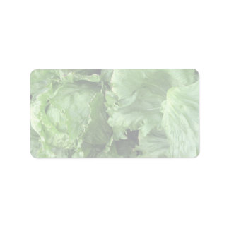 Yummy Iceberg lettuce Label