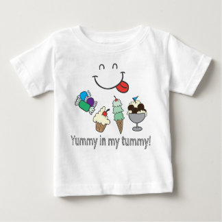 Yummy in my Tummy! Hand Drawn Candy & Ice Cream Tee Shirt