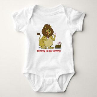 """Yummy In My Tummy!"" - Hungry Lion Baby Bodysuit"