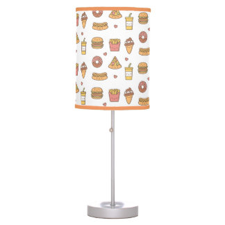 Yummy Kawaii Fast Food Doodles Girls Room Decor Desk Lamp