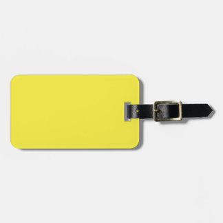 Yummy Lily Yellow Solid Color Bag Tag