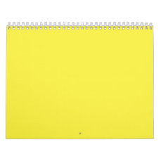 Yummy Lily Yellow Solid Color Calendar