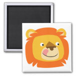 Yummy lion button magnet