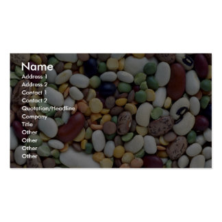 Yummy Mixed beans Business Card Template
