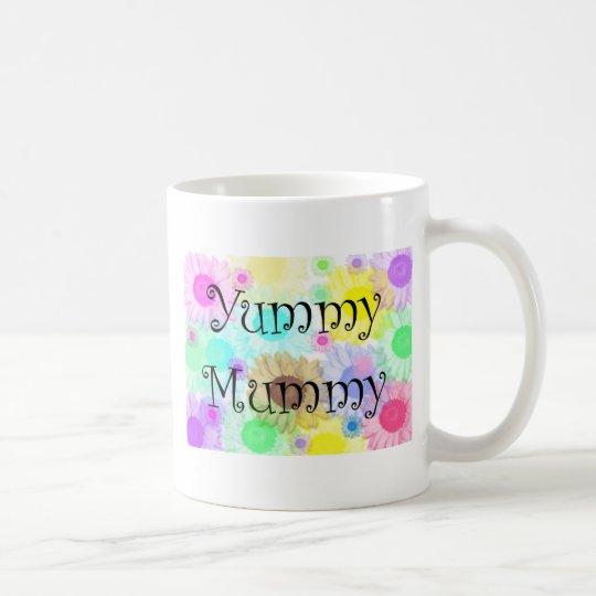 yummy mummy flowers coffee mug