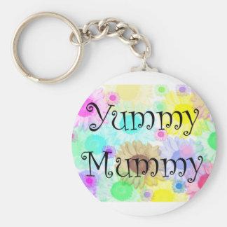 yummy mummy flowers keyring keychains