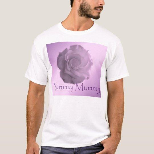YUMMY MUMMY lilac pink rose tshirt