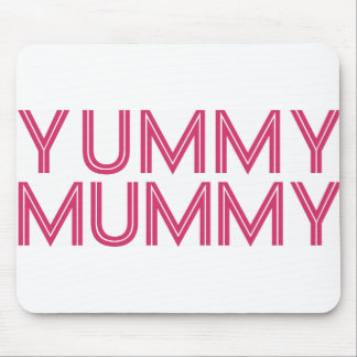 Yummy Mummy Pink Vintage Hiking Duck Mouse Pads