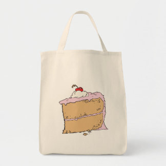 yummy piece of cake canvas bags