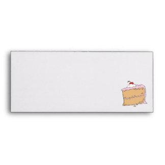 yummy piece of cake envelope