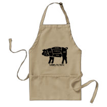 Yummy Pig Parts Adult Apron