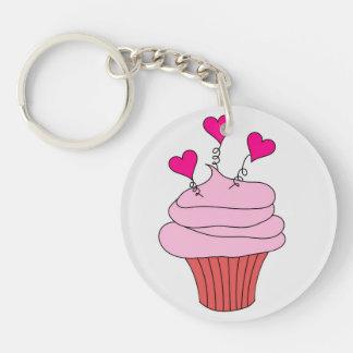 Yummy Pink Cupcake Keychain